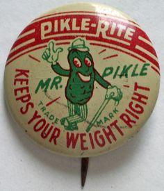 Awesomeness: .... Mr. Pikle pin, circa 1946