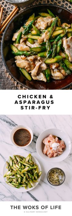 Dinner Recipes Easy Quick, Quick Easy Meals, Healthy Dinner Recipes, Real Food Recipes, Chicken Recipes, Asparagus Stir Fry, Chicken Asparagus, Asparagus Recipe, Chinese Chicken