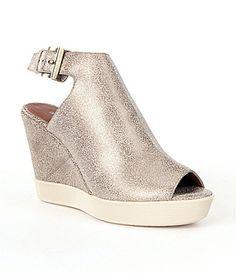 d3c755d95d3545 Donald J Pliner Calli Metallic PeepToe Wedge Booties  Dillards Peep Toe  Ankle Boots