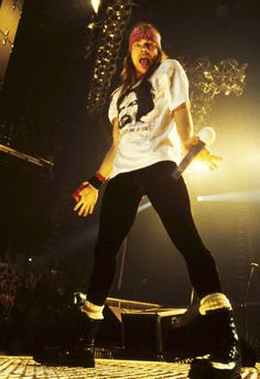 Axl Rose ~ I've already pinned this, but I just really love this picture :)