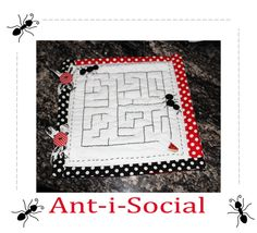 Riley Blake Designs -- Cutting Corners: Ant-i-Social Quiet Book Page Tutorial