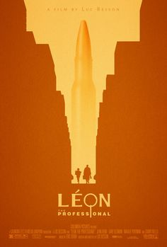 Movie Poster  Cinema Poster Design Leon