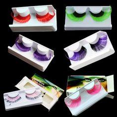 FANCY Thick Feather False Eyelashes Handmade Makeup eyelashes 2.5cm DRESS PARTY