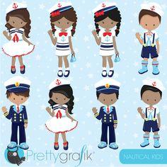 BUY 20 GET 10 OFF Nautical Kids clipart commercial use, sailor vector graphics, penguin digital clip art, digital images - Kids Crafts, Beach Crafts, Vector Clipart, Vector Graphics, Desenho Kids, Image Paper, Clip Art, Mermaid Birthday, Nautical Theme