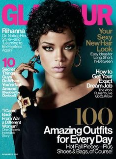 Über Fashion Marketing: Rihanna na capa da Glamour US de novembro