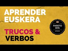 Aprender euskera: Trucos para los verbos - YouTube Pareto, My Passion, Youtube, Spain, Language, Learning, Places, English Classroom, Sayings And Quotes