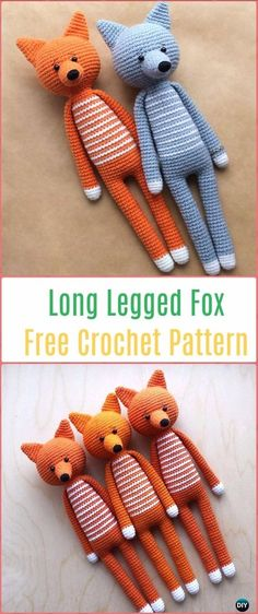 Crochet Fox : Crochet Amigurumi Long Legged Fox Free Pattern