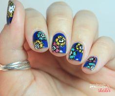 Wondrously Polished: Manicure Monday - Darling Poppy Inspired Print