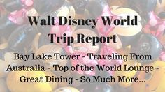 Walt Disney World Trip Report with a family from Australia.