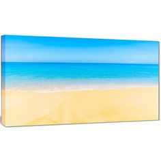 "DesignArt 'Calm Blue Sea and Sky' Photographic Print on Wrapped Canvas Size: 20"" H x 40"" W x 1"" D"