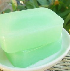 Natural spearmint soap-minty bath soap-Cruelty by OasisBathSoaps