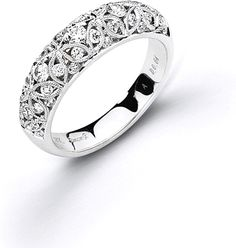 For I Forever Do. Simon G Filigree Diamond Wedding Band  : This diamond wedding band by Simon G features pave set round brilliant cut diamonds in an intricate pattern along the band.