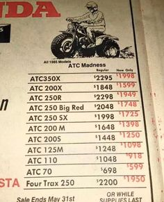 Mini Motorbike, Enduro Motorcycle, Mini Bike, Honda Trike, Honda Motorcycles, Vintage Motorcycles, Snowmobiles, Old Ads, Atvs