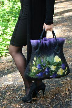 """Купить Сумка """"Ирисы 2"""" - сумка ручной работы, сумка, сумка женская, креативный подарок"""