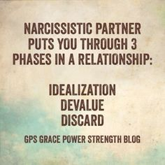 GPS-Grace Power Strength: The Narcissistic Sociopath: When You Unknowingly Enter The Discard Phase