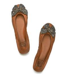 Leather Eddie Bow Ballet Flat
