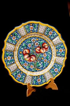 Ceramic - Baroque plate | Touch of Sicily Visit our on-line shop at http://www.touchofsicily.it now!