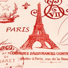 French Stamp Primary Red/Natural by Premier Prints - Drapery Fabric - 27907 - Buy Fabrics - Buy Discount Designer Fabrics | BuyFabrics.com