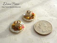 Dollhouse Miniature Food  One Plate of Cookies and Cocoa by dpaone, $16.95