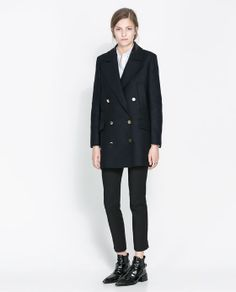 ZARA - WOMAN - SHORT COAT WITH POCKETS