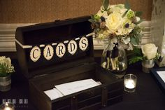 Box to put in cards and gifts from guests. The Tidewater Inn wedding, Easton, Eastern Shore, Maryland, by wedding photographers of Leo Dj Photography. http://leodjphoto.com