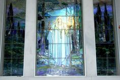 Lynette George / Herald Democrat: This Tiffany glass window named Angel of Truth, created in 1912 by Louis Comfort Tiffany, is located in the West HIll Cemetery mausoleum.