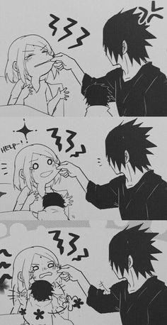 sakura, sasuke, and sasusaku 이미지 Anime Naruto, Anime Chibi, Comic Naruto, Naruto Cute, Otaku Anime, Anime Meme, Manga Anime, Sasuke Sakura Sarada, Naruto Shippuden Sasuke