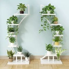 House plants decor - Standing flower shelf Living room & balcony Plant shelf flower pot stands with wood plant Balcony Plants, House Plants Decor, Plant Decor, Indoor Plants, Balcony Door, Indoor Plant Stands, Room With Plants, Balcony Garden, Garden Rack