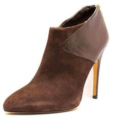 Sam Edelman Jacelyn Women Booties ($79) ❤ liked on Polyvore featuring shoes, boots, ankle booties, brown, suede boots, brown suede boots, brown suede ankle booties, brown boots and sam edelman boots