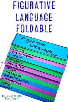 This figurative language foldable is perfect for test prep, review, whole or small group instruction, poetry units, and more. Use them with upper elementary or middle school students during your ELA lessons. They're hands-on, engaging, plus a great reference to be used all year long. Great for 3rd, 4th, 5th, 6th, 7th, or 8th grade students. Plus all the terms and vocabulary you want are included in the blog post. Check it out today! #FigurativeLanguage #UpperElementary #EnglishLanguageArts 5th Grade Classroom, Middle School Classroom, Classroom Fun, Leadership Activities, Group Activities, Similes And Metaphors, Elementary School Counseling, Elementary Schools, Book Of Poems