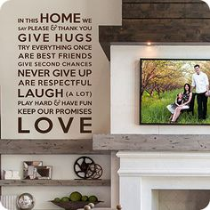 In This Home We Love...  I love this!!  This website has tons of these!!!  And they have good pricing too!