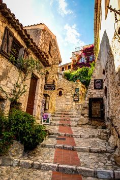 Eze, France. Get there early to beat the tourist busses and be sure to visit the cactus garden. The view over Nice is worth it!