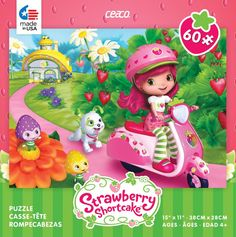 Ceaco Strawberry Shortcake 60-Piece Jigsaw Puzzle - Vespa