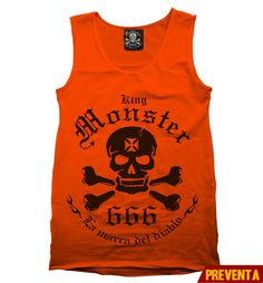 """Tank Top Logo Naranja""  morra  disponible en www.kingmonster.com.mx"