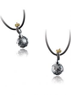 """Atomic"" Pendant by Ecks Jewelry (Silver) #InkedShop #InkedMag #Atomic #Pendant #Silver"