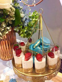Cheesecake - Macarons for a dessert buffet setup