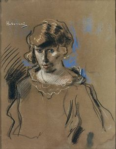 Hugo Baron. Habermann Elder 1849 Dillingen / Donau - 1929 Munich. Student at the Munich Academy