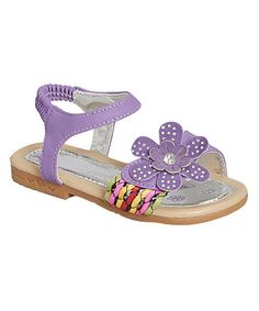 Another great find on #zulily! Purple Crystal Flower Sandal #zulilyfinds