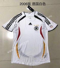 43e4529b948 2006 Retro Version Germany Home White Thailand Soccer Jersey-510