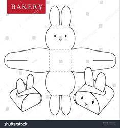 Package for bakery stock vector (royalty free) 1038563341 – Basteln für Kinder – etexture Bunny Crafts, Easter Crafts, Diy Crafts For Gifts, Holiday Crafts, Diy For Kids, Crafts For Kids, Diy Gift Box, Diy Box, Easter Art