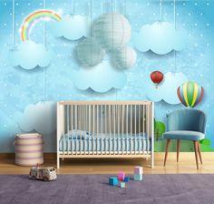 Pokój w błękicie :-) http://mural24.pl/konfiguracja-produktu/107438399/ #homedecor #fototapeta #obraz #aranżacjawnętrz #wystrójwnętrz, #decor #desing