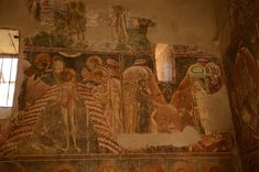 Church of Saint George in Kurbinovo, Baptism and Raising of Lazarus. Raising Of Lazarus, Republic Of Macedonia, 12th Century, Saint George, The Republic, Fresco, Abandoned, Saints, Inspiration