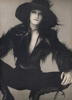 Loulou de la Falaise, (4 May 1948 - 5 Nov 2011).  Muse of Yves St Laurent, joined his firm in 1972, designing accessories and jewellery.