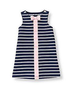 Striped Ponte Dress-Janie and jack-I love this brand!
