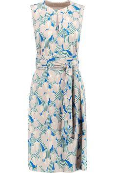 TORY BURCH Atley Printed Stretch-Twill Dress. #toryburch #cloth #dress