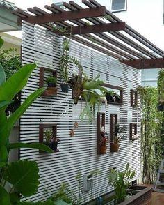 terrace garden Terraces present wo - garten Diy Patio, Backyard Patio, Backyard Landscaping, Landscaping Ideas, Patio Ideas, Pergola Ideas, Pool Ideas, Patio Divider Ideas, Backyard Ideas