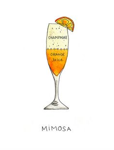 perfect mimosa....is not pictured.  perfect mimosa would be finishing off a bottle of champagne without getting past the neck of the OJ bottle @Kimmie Hardin @Allison Cardella