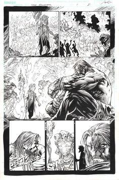 INCREDIBLE HULK #1 Page 8 - Comic Art Work By Marc Silvestri