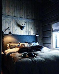 Bilderesultat for laftekompaniet Nordic Lodge, Scandinavian Cabin, Lodge Bedroom, Chalet Interior, Montana Homes, Mountain Cottage, Cabins In The Woods, Christen, Beautiful Bedrooms
