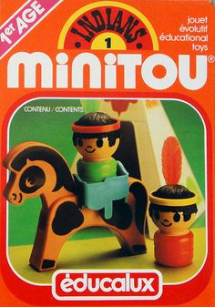 Educalux | indians Minitou set ✭ vintage 70s toy packaging